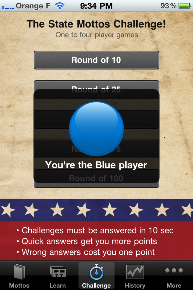 Screenshot US State Mottos – A Tap N' Learn Game