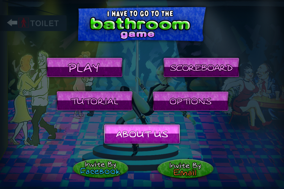 Screenshot I have to go to the bathroom FREE , from the dance party to the toilet puzzle game